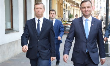 Kandydat na Prezydenta RP Andrzej Duda w Krakowie.