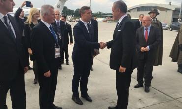 Wicewojewoda Piotr Ćwik i Prezydent Słowacji
