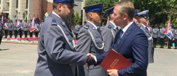 Wojewódzkie obchody Święta Policji w Oświęcimiu (video)