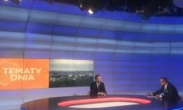 """Wojewoda Piotr Ćwik gościem programu """"Tematy Dnia"""" w TVP 3 Kraków"""