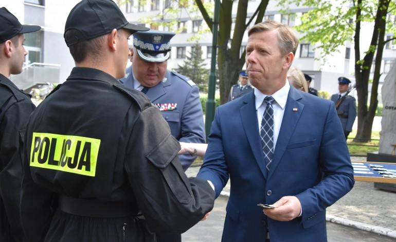 Ślubowanie nowo przyjętych funkcjonariuszy Policji garnizonu małopolskiego