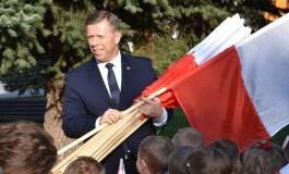 """""""Ławki Niepodległości"""" - wizyta w gminie Bobowa"""