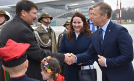 Przywitanie węgierskiej Pary Prezydenckiej