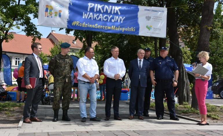 Pełen atrakcji piknik wakacyjny #RodzinaSercemMałopolski w Skawinie